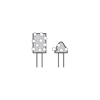 diamantový kotouč, nadměrný úbytek segmentu