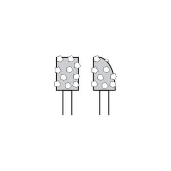 diamantový kotouč, nerovnoměrný úbytek segmentu
