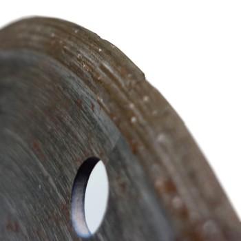 diamantový kotouč, nerovnoměrný úbytek segmentu - levá strana