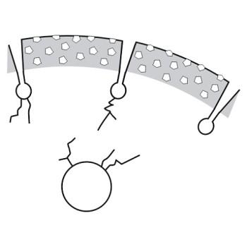 diamantový kotouč, praskliny v nosiči