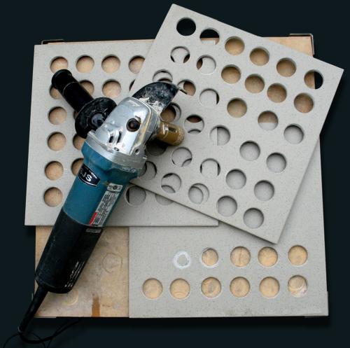 jak vrtat obklady a dlažby úhlovou bruskou za sucha