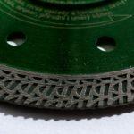 řezný kotouč pro obkladače, detail segmentu