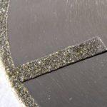 galvanicky připevněné diamanty - detail