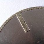 řezný diamantový kotouč na sklolaminát - detail
