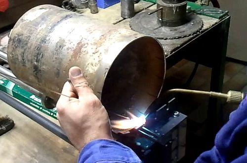 renovace diamantových korunek - pájení stříbrem