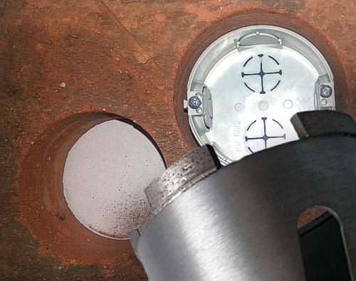 diamantové vrtací korunky pro elektrikáře